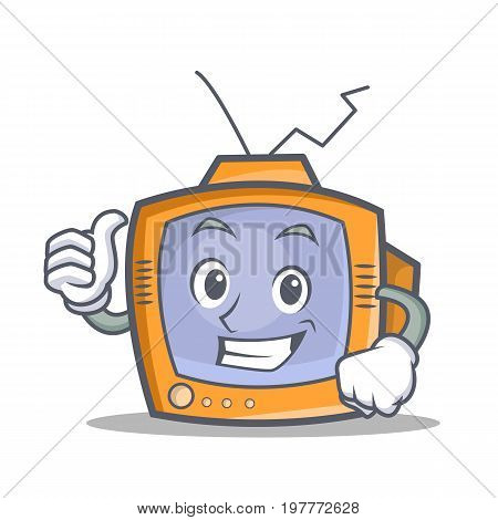 Proud TV character cartoon object vector illustration