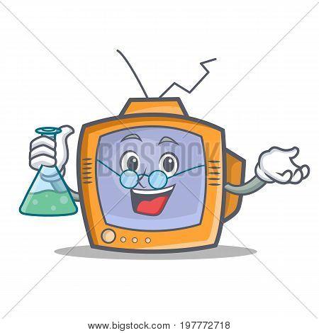 Professor TV character cartoon object vector illustration