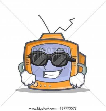 Super cool TV character cartoon object vector illustration