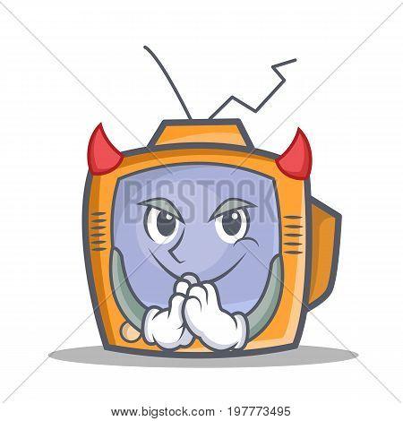 Devil TV character cartoon object vector illustration