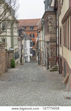 architectural detail in Fulda a city in Hesse Germany