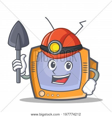 Miner TV character cartoon object vector illustration