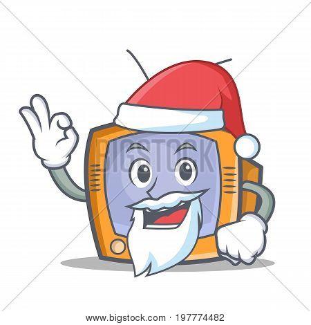 Santa TV character cartoon object vector illustration