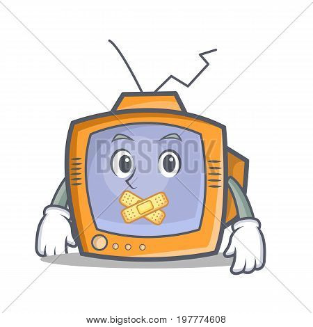 Silent TV character cartoon object vector illustration