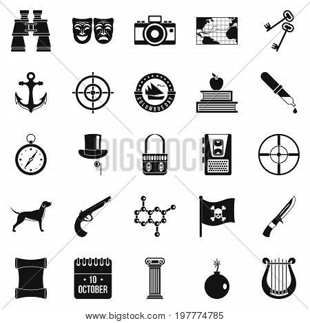 Hunting icons set. Simple set of 25 hunting vector icons for web isolated on white background