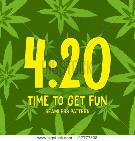 4:20 Theme. Vector Seamless Pattern.