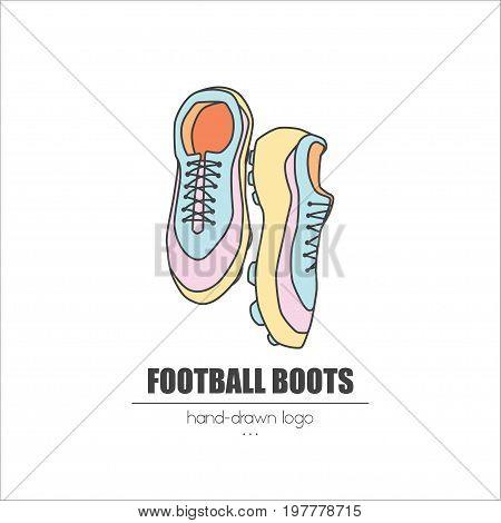 Nice Looking Hand-drawn Logo Football Boots