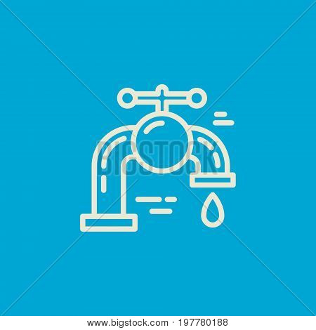 Modern line style logo for repair company or plumbing service provider. Isolated design element - text can be easily changed for your company name.