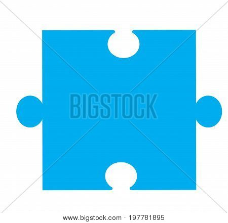 puzzle piece icon on white background. puzzle piece sign. blue puzzle piece for apps and websites.