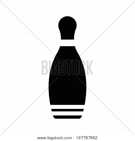silhouette of a bowling pin equipment vector illustration