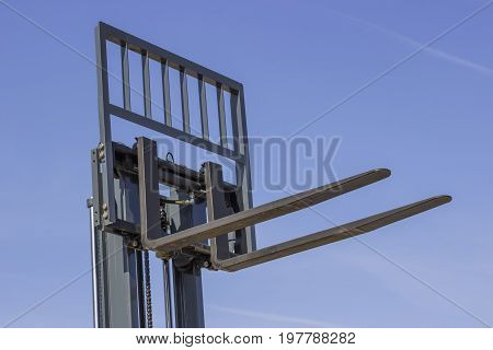 Close Of Adjustable Pallet Lifter