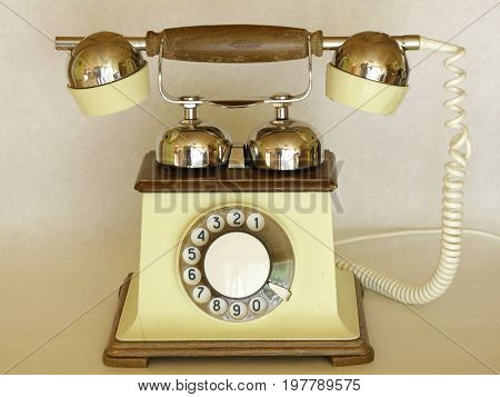 telephone analog vintage landline wooden wire call
