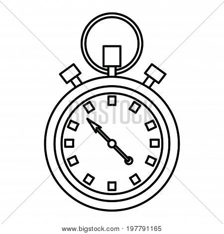 stopwatch chronometer timer countdown time sport vector illustration