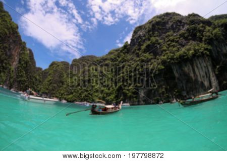 The blurred image of Andaman Sea in Thailand Blurred background