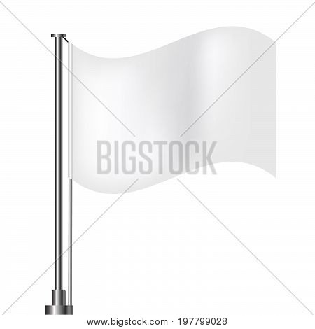 White Banner Flags Clean Background Eps 10 Illustration Design