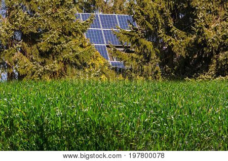 Use of a photovoltaic plant in a nature reserve water protection area.
