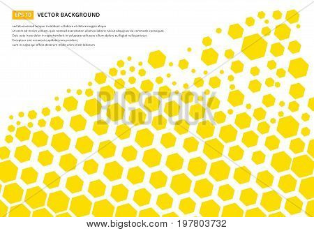 Yellow hexagon pattern concept design abstract technology background with copy space vector Illustration