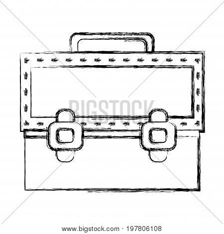 figure elegant briefcase to save important document vector illustration
