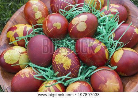 Natural Dyed Easter Eggs Colored With Onion Skins 3
