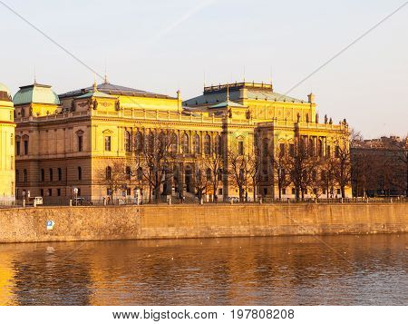The Rudolfinum - neo-renaissance building and seat of Czech Philharmonic Orchestra, Prague, Czech Republic.