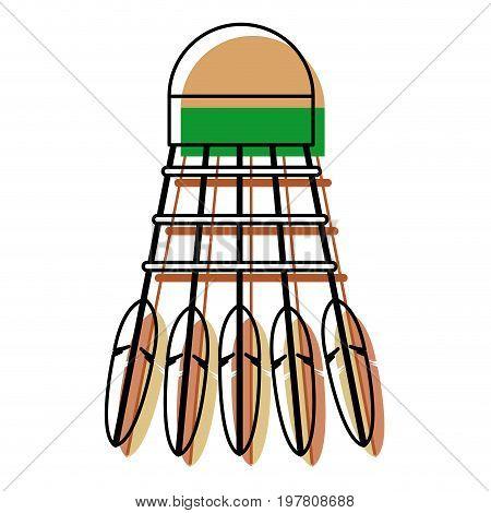 badminton from bird feathers sports equipment vector illustration