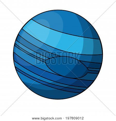 uranus planet icon image vector illustration design