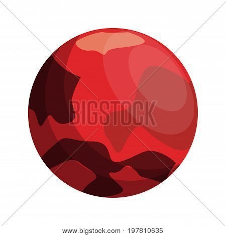 red celestial body icon image vector illustration design