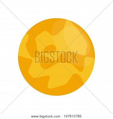 yellow celestial body icon image vector illustration design