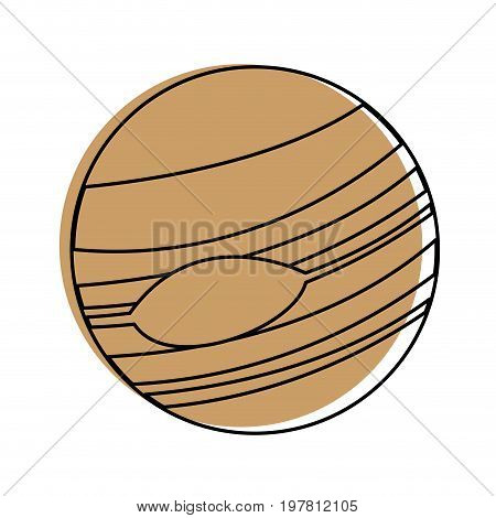 celestial body icon image vector illustration design  beige color