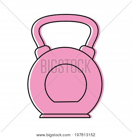kettlebell weight lifting icon image vector illustration design  pink color