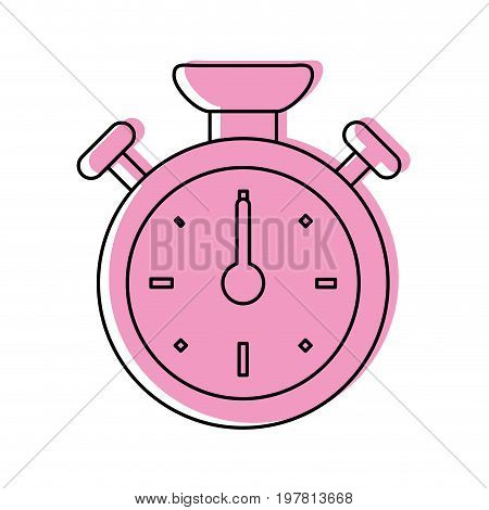 analog chronometer icon image vector illustration design  pink color