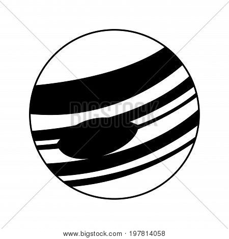 celestial body icon image vector illustration design  black and white