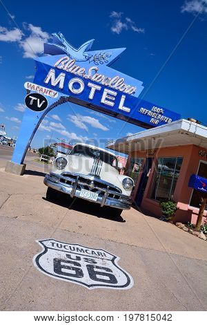 Blue Swallow Motel On Historic Route 66.
