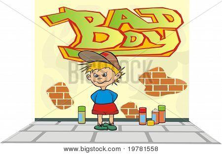 bad boy - wall painting