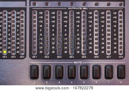 Sound Equipment Buttons