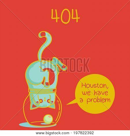 error web page. error 404. funny cat