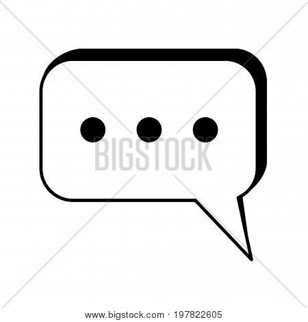 instant messaging conversation bubbles icon image vector illustration design  black and