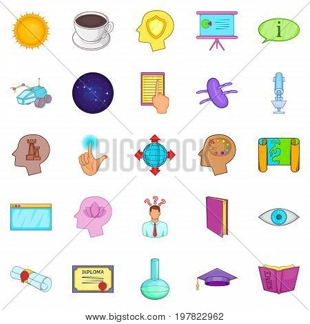 Brainwave icons set. Cartoon set of 25 brainwave vector icons for web isolated on white background