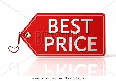 Best Price Tag Concept  3D Illustration