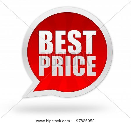 Best Price Badge Concept  3D Illustration