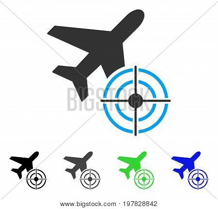 Aviation Target flat vector pictograph. Colored aviation target gray black blue green pictogram versions. Flat icon style for web design.