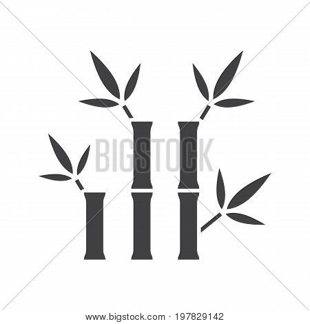 Bamboo sticks for massage glyph icon. Silhouette symbol. Spa salon. Negative space. Vector isolated illustration