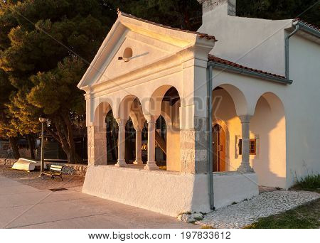 Old church Sveti Nikola in the city of Cres