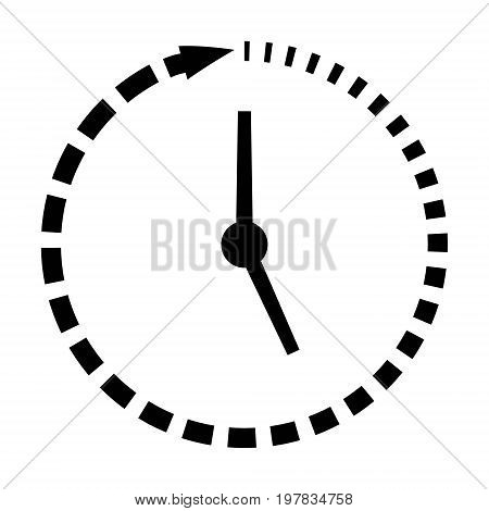 Passage of time icon, clock, missing time, vector concept fast lifestyle