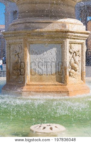 fountain at the famous st peter's square in vatican city