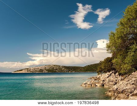 Coves near Ustrine on the island of Cres (Croatia)