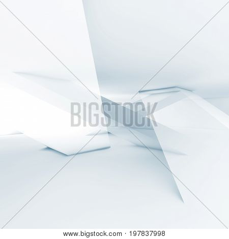 3D Background With Intersected Geometric Shapes