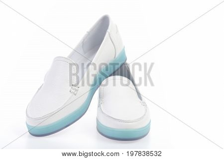 Casual Moccasins In White Colour For Women