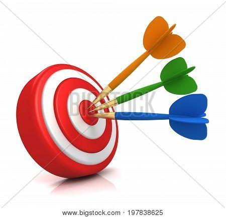 Bullseye Target Concept  3D Illustration