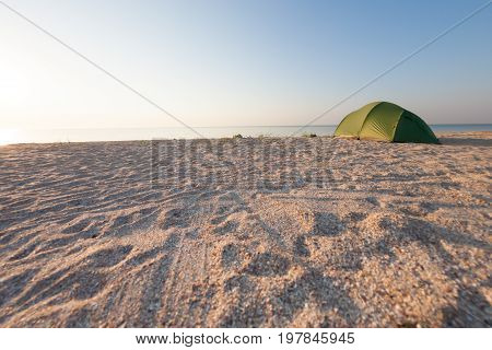 Tent On The Beach.